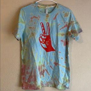 Tie Dyed Vinyl Bella Canvas Size Medium Shirt